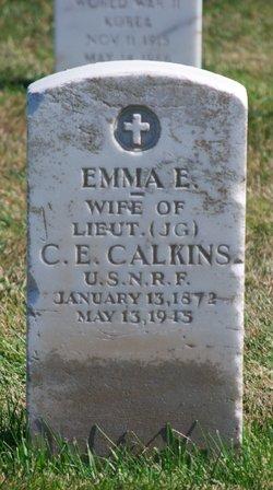 Emma E <i>Snyder</i> Calkins