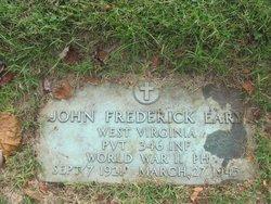 Pvt John Frederick Eary