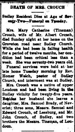 Mary Catherine <i>Tinsman</i> Crouch