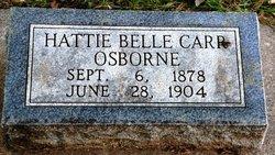 Hattie Belle <i>Carr</i> Osborne