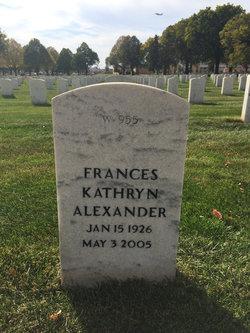Frances Kathryn Alexander