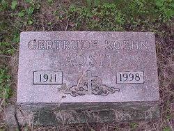 Gertrude <i>Koehn</i> Adsit