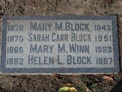 Sarah Carr Block