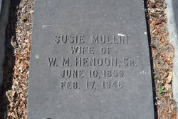 Susie Angelina <i>Mullen</i> Hendon