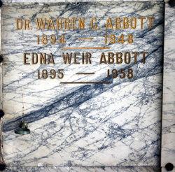Edna <i>Weir</i> Abbott