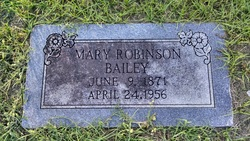 Mary <i>Robinson</i> Bailey