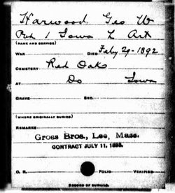 Pvt George W Harwood