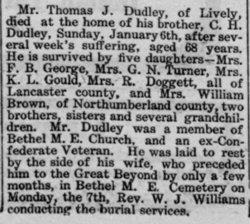 Sgt Thomas John Dudley