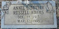 Annie L. <i>Butler</i> Adams