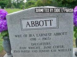 Elizabeth Betty <i>Jenkins</i> Abbott