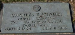Pvt Charles Ernest Lowder