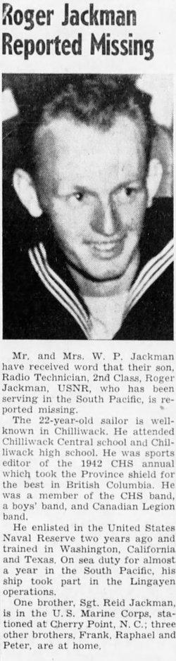 RT2 William Roger Jackman