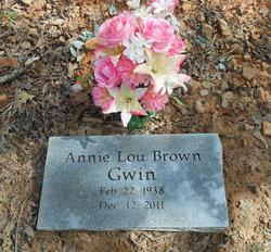 Annie Lou <i>Brown</i> Gwin