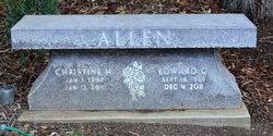 Christine M Allen