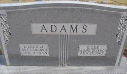 Etta Lucille <i>Baarcke</i> Adams