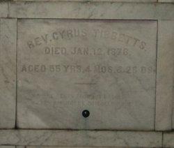 Rev Cyrus W. Tibbetts