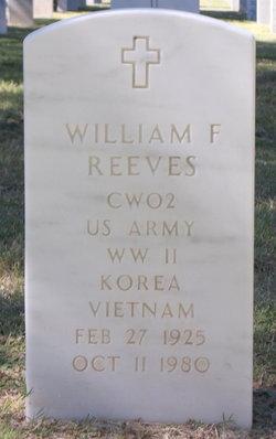 CWO William F Bill Reeves