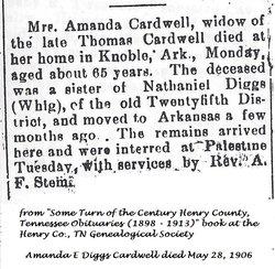 Amanda E <i>Diggs</i> Cardwell