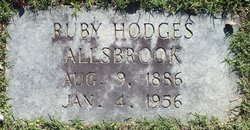 Ruby <i>Hodges</i> Allsbrook