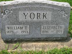 Elizabeth Lizzie <i>Calhoun</i> York