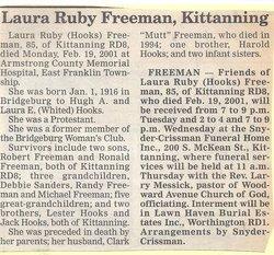 Laura Ruby <i>Hooks</i> Freeman