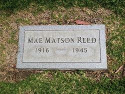 May Emma <i>Matson</i> Reed
