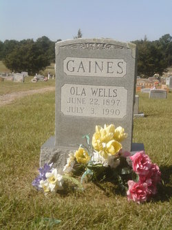 Ola <i>Wells</i> Gaines