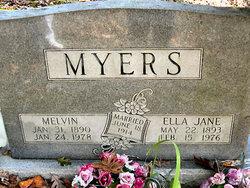 Ella Jane <i>Lewis</i> Myers