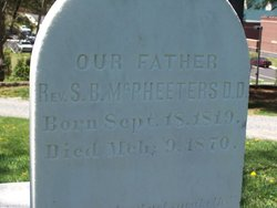Rev Samuel Brown McPheeters