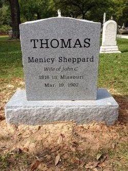 Menicy J. Marie <i>Sheppard</i> Thomas