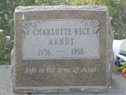 Charlotte <i>Rice</i> Arndt