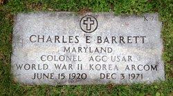 Col Charles E. Barrett