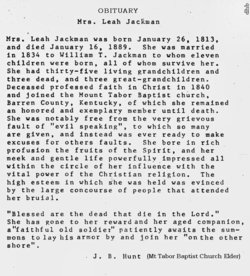 Leah Elizabeth <i>Steffey</i> Jackman