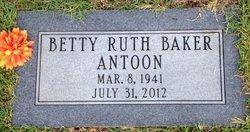 Betty Ruth <i>Baker</i> Antoon