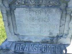 Christine <i>Baker</i> Reaksecker