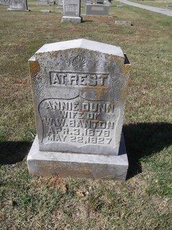 Annie Frances <i>Dunn</i> Banton