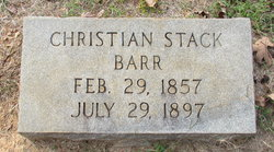 Christian <i>Stack</i> Barr