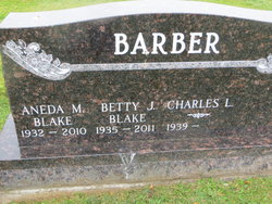 Betty J. <i>Blake</i> Barber