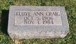 Rubye Ann Craig
