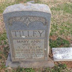 Mary Ann <i>Marlow</i> Tilley