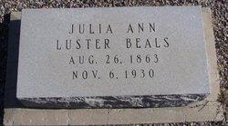 Julia Ann <i>Luster</i> Beals