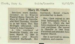 Mary H Clark