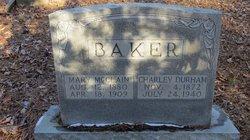 Mary A <i>McClain</i> Baker