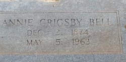 Anne E Annie <i>Grigsby</i> Bell