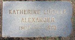 Katherine Lucille Alexander