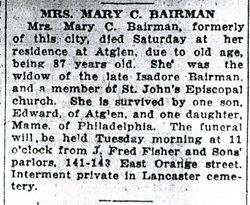 Mary Catherine <i>Peterman</i> Bairman
