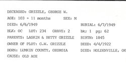 George Washington Grizzle