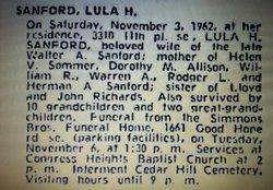 Lula Helen <i>Richards</i> Sanford