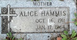 Mary Alice <i>Bissonette</i> Hammis