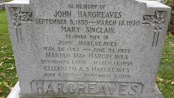 Mary <i>Sinclair</i> Hargreaves
